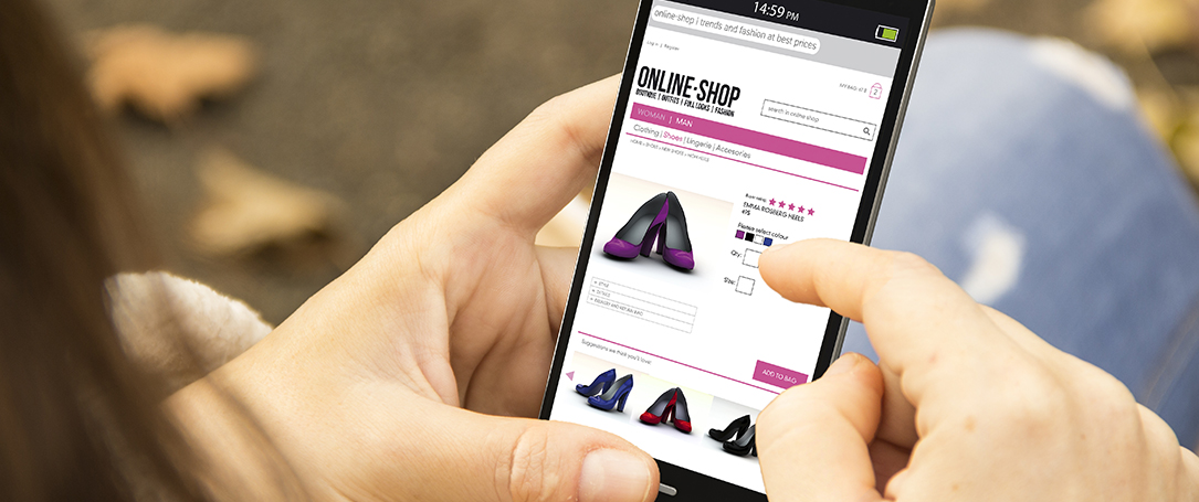 Smart phone overrides website for online shopping?